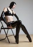 Woman in latex Stock Image