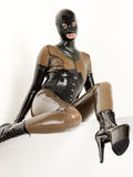 Woman in latex Stock Photography