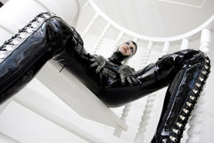 Woman in latex Stock Photo