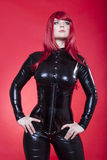 Woman in latex Royalty Free Stock Photos