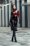 Woman in latex costume Royalty Free Stock Photos