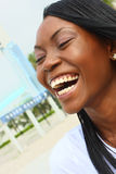 Woman Laughing Stock Image