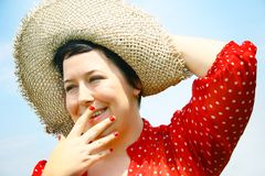Woman laughing Royalty Free Stock Photo