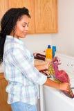 Woman laundry Stock Photo