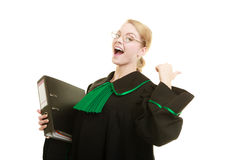 Woman lawyer with file folder or dossier Stock Photo
