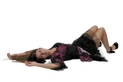 Woman Laying Down Stock Photography