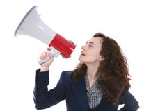 Woman Leader royalty free stock image