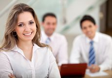 Woman leading a busines group Stock Photo