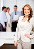 Woman leading a business team Royalty Free Stock Images