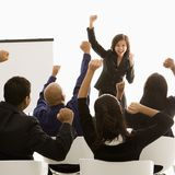 Woman leading presentation Stock Image