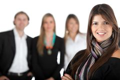 Woman leading a team Stock Image