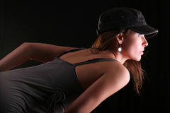 Woman lean forward Royalty Free Stock Images