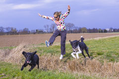 Woman leap Royalty Free Stock Photos