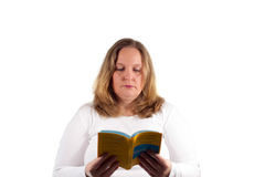 Woman learns vocabulary for exams Stock Photo