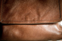 Woman leather bag closeup texture. Light brown color Stock Photo