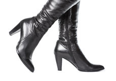 Woman leather boots Royalty Free Stock Photo
