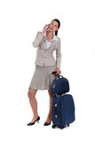 Woman on a business trip Stock Photo