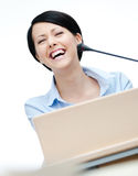 Woman lecturer at the board Royalty Free Stock Photo