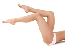 Woman leg. Over white background Royalty Free Stock Photography