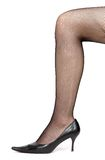 Woman leg with stockings Stock Photo