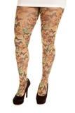 Woman leggings butterflies Royalty Free Stock Photo
