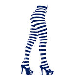 Woman in leggings with stripes Royalty Free Stock Photos
