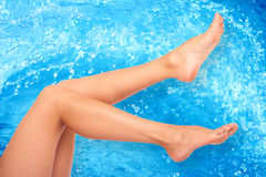 Woman legs Stock Images