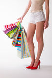 Woman legs of beautiful girl. Royalty Free Stock Photography