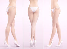 Woman legs with bikini and heels, 3d render. Woman legs, sexy with bikini Royalty Free Stock Image