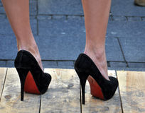 Black  high heels Royalty Free Stock Photo