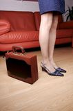 Woman legs & briefcase 1 Royalty Free Stock Photography