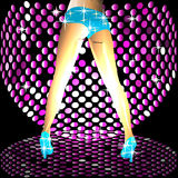 Woman legs in disco Royalty Free Stock Image
