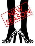 Woman legs in fashion shoe. New season stylish accessories, fashion shoes Stock Photography
