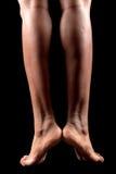 Woman legs feet Stock Image