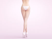 Woman legs with heels, 3d render royalty free illustration