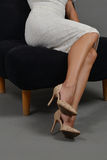 Woman legs, high heels Stock Image