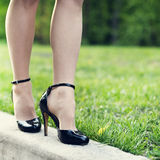Woman legs and high heels Royalty Free Stock Photo