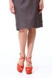 Woman legs in high heels red shoes. Woman legs in high  heels red shoes Stock Image