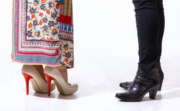 Woman legs in high heels shoes. Woman legs in high heels  shoes Royalty Free Stock Photos