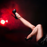 Woman Legs In Fashion Light Royalty Free Stock Photo