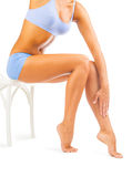 Woman legs isolated Royalty Free Stock Images