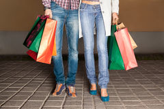 Couple out shopping Royalty Free Stock Photos