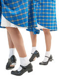Woman legs in shoes for Scottish dance Stock Photography