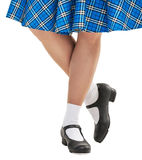 Woman legs in shoes for Scottish dance Royalty Free Stock Images