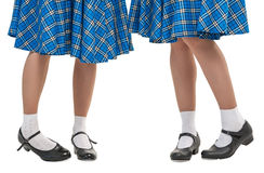 Woman legs in shoes for Scottish dance Stock Images