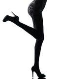 Woman legs silhouette Stock Photo