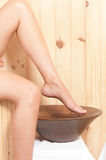 Woman legs in spa Stock Photo