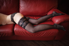 Woman legs in stockings. Stock Image