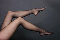 Woman legs in tights Stock Photo