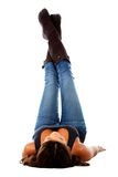 Woman with legs up Stock Photography